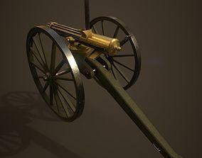 Gatling Gun 3D asset