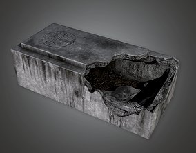 3D model CEM - Stone Grave Cemetery 1 - PBR Game Ready