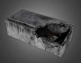 Stone Grave Cemetery 1 CEM - PBR Game Ready 3D asset