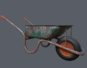 3D asset Rusty Wheelbarrow