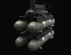 Hellfire Missiles with Marines Textures 3D