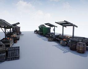 Medieval Market PBR 3D asset