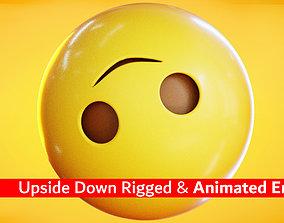 Upside Down Face Animated Emoji Reaction 3D asset