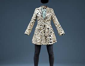 Leopard Coat Clothing Outfit 3D model