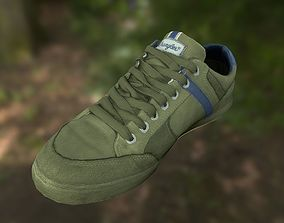 runner Sneaker shoe 3D model low poly VR / AR ready