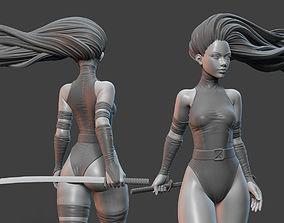 Psylocke Pose 3D