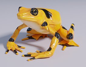 3D model Pananmanian Golden Frog - Animated