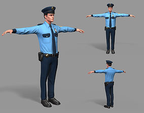 Policeman 3D model VR / AR ready