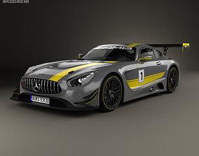 3D model Mercedes-Benz AMG GT3 2015