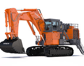 3D model Excavator Hitachi EX2600-7