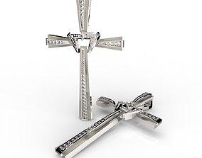 Modern Crucifix Elegant Pendant 3D printable model
