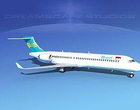 Comac ARJ21-700 Merpati Nusantara 3D