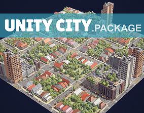 Realistic Unity City 3D model
