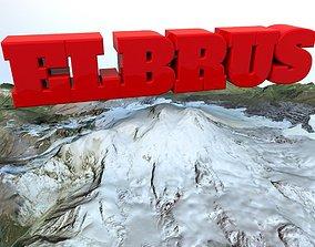 3D model Mountain Elbrus