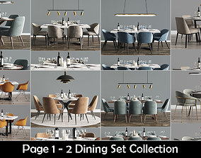 furniture-set 3D Dining Set Collection