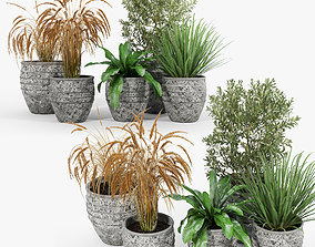 Knisely 2-Piece Pot Planter Set 03 3D model