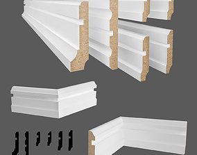 baseboards 18 pieces 3D model