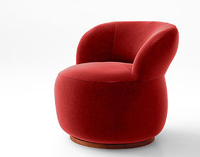 Jardan Joy armchair and Ottoman 3D