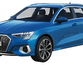 Audi A3 Sportback 2021 3D model compact