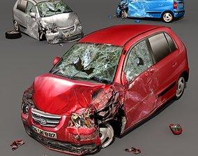 3D model Scrap Car 01