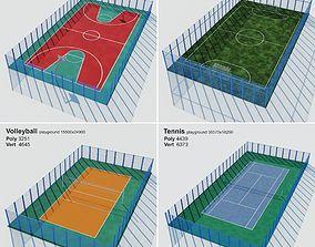 3D asset Set sport playground