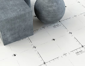 Shading Scale Grid Textures - AssetKit VR / AR ready