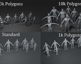 3D Human Body Base Mesh 40 Models Bundle
