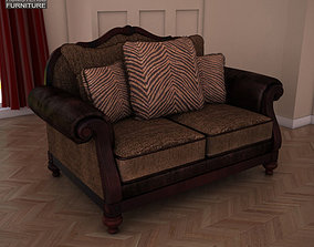 3D asset Ashley Key Town Loveseat