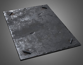 3D model Metal Ground Plate - PBR Game Ready