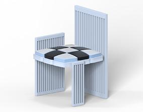 Parody of Koloman Mosers arm chair 3D