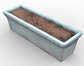 3D asset Long Flower Pot