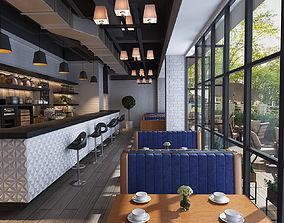 3D model Coffee garden restaurant modern decoration very 1
