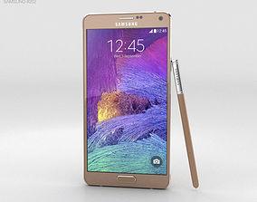 3D Samsung Galaxy Note 4 Bronze Gold