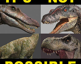 animated Incredible JP Dinosaur PACK - rex 3d model