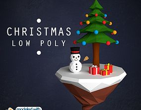 3D asset realtime Christmas Island Low Poly