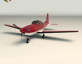 Low Poly Light Aircraft 03 3D asset