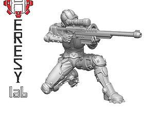 Heresylab - Sauberung female Sniper 3D print model