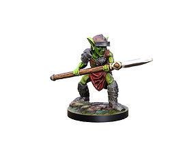 3d printable Goblin spearman 28mm Miiniature