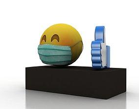 Coronavirus consequences 3D asset