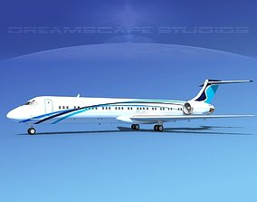 McDonnell Douglas MD-87 Corporate 8 3D