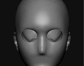 BJD head for sculpting 3D print model