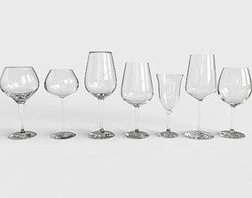 3D asset Wine Glass Set