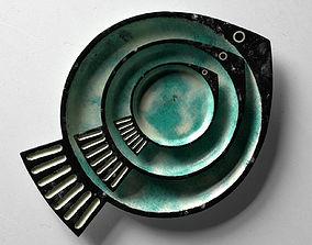 Fish Green Plates 3D
