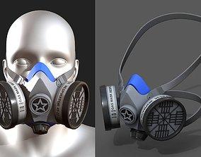 3D asset Gas mask respirator military combat protection
