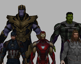 Avengers Endgame collection Rigged 3D