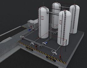 3D model Industrial fluid reservoir