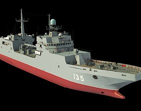 Ivan Gren Landing Ship bdk 11711 3D model watercraft