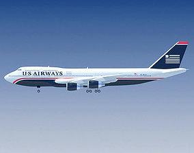 Boeing US Airways V2 3D model