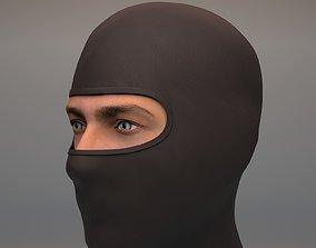 Black Balaclava mask 3D asset