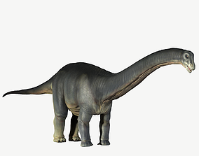 3D model low-poly Apatosaurus